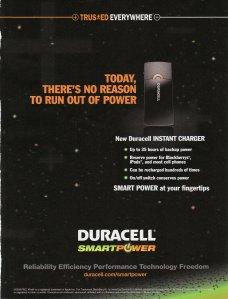 Duracell Print Ad