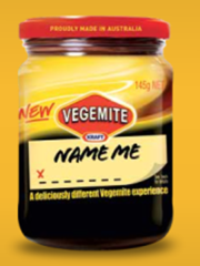 Vegemite Name Me