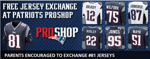 Photo:  New England Patriots website.