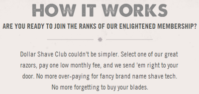 Photo: Dollar Shave Club website.