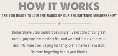 Photo: Dollar Shave Club website.