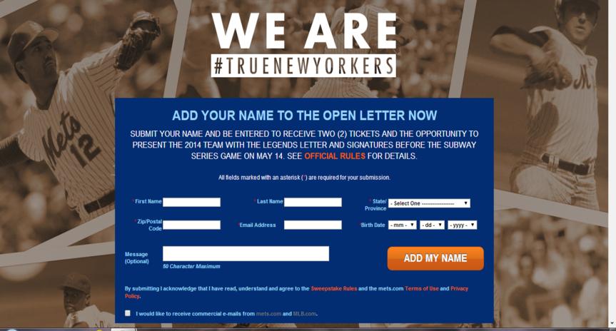 Photo: New York Mets website.