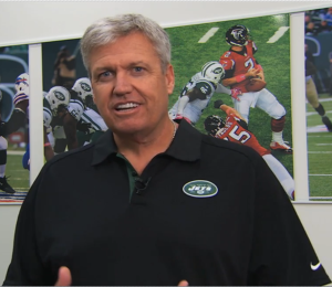 Jets coach Rex Ryan breaks down the 2014 schedule for season ticket holders. Photo: video screen grab from New York Jets website.