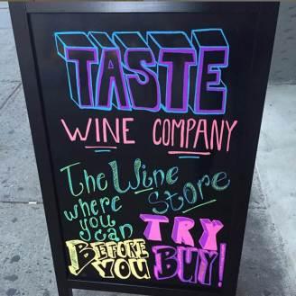 Taste Wine Company - NY, NY. Credit: Taste Wine Company.