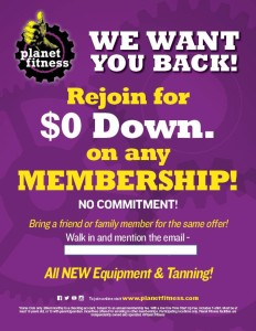 Planet Fitness - We Want You Back - 2