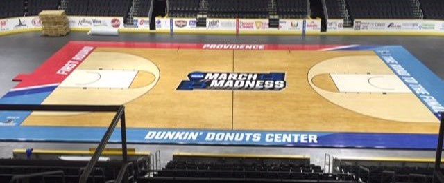 2016 NCAA men's basketball tournament. Dunkin Donuts Center, Providence, RI. Credit: Connor Sports.