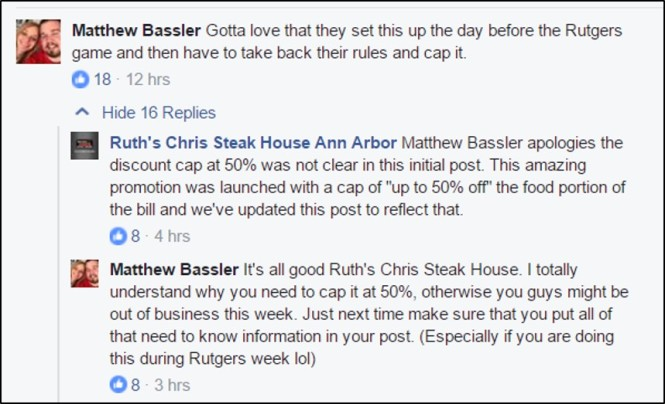 Facebook: Ruth's Chris Steak House - Ann Arbor, MI