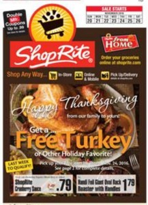 ShopRite Free Turkey Circular 2016